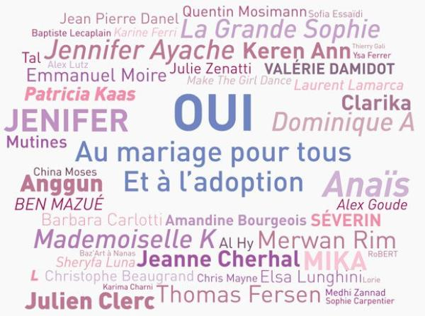 Mariage pour tous : 48 artistes signent un appel pour le mariage gay !