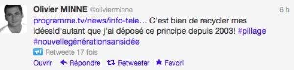 Olivier Mine: Il clash Vincent Cerruti sur twitter et l'accuse de plagiat