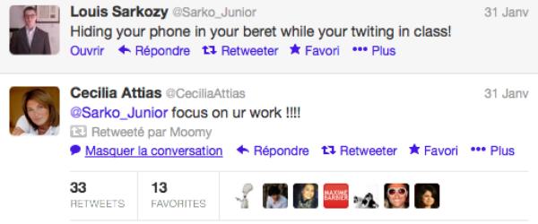 Louis Sarkozy: Sa mère le recadre en live sur twitter