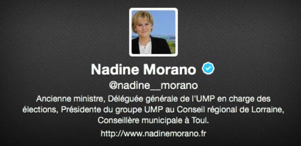 Nadine Morano: Un twIttos corrige ses fautes d'accord