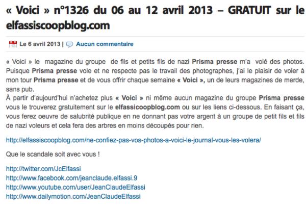 """Jean Claude Elfassi: Le journaliste offre à """"ses fidèles disciples""""  les magazine, Voici et Closer"""