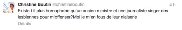 """Christine Boutin: Elle clash sur twitter Audrey Pulvar et Roselyne Bachelot qui ont selon elle, """"singé des lesbiennes"""""""