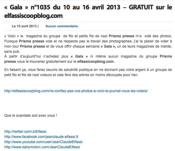 Jean Claude Elfassi: Après Voici & Closer, il met le magazine Gala en intégralité et gratuitement  à disposition sur son blog