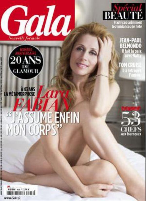 -Photos- Lara Fabian: Nue en Une de Gala
