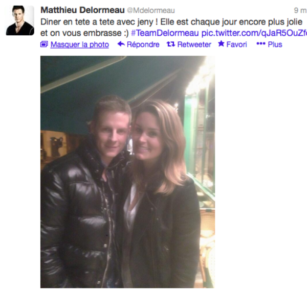 Matthieu Delormeau: Il affiche son sontien et son amitié à Jeny Priez sur twitter