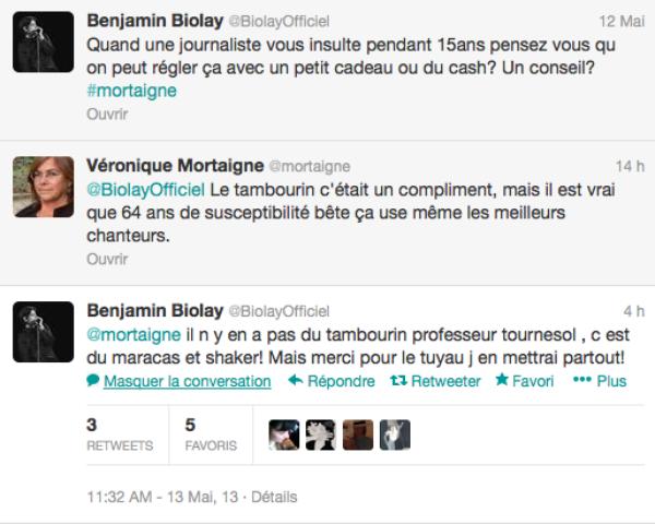 Benjamain Biolay: Il rêgle ses comptes sur twitter