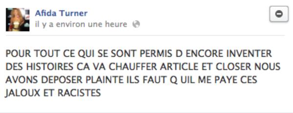 Afida Turner: Elle pète les plombs sur FaceBook