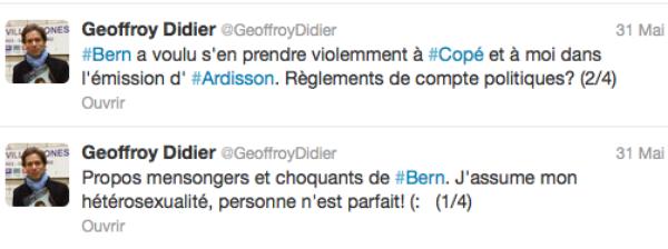 """-Vidéo- (Re)Découvrez l'outing de Geoffroy Didier par Stéphane Bern dans """"Salut Les Terriens"""" sur Canal +"""