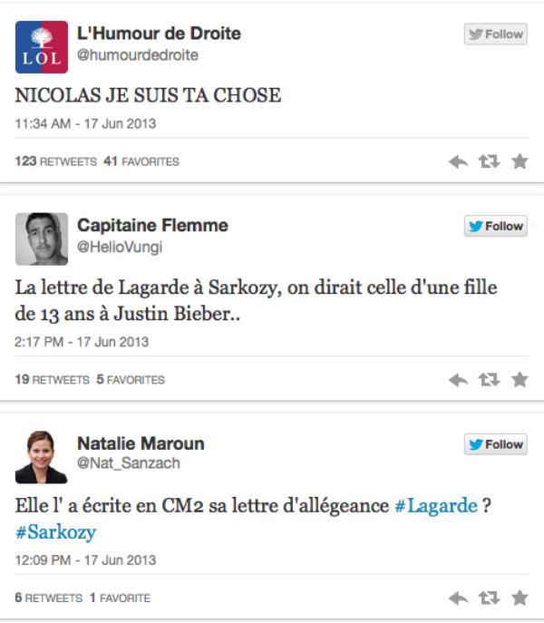 Nicolas Sarkozy : Une lettre manuscrite de Lagarde adressée à l'ancien Président et dévoilée sur le net fait gausser twitter