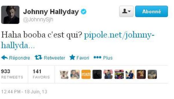 """Johnny Hallyday répond aux attaques de Booba et le clash sur Twitter: """"Booba c'est qui ?"""""""