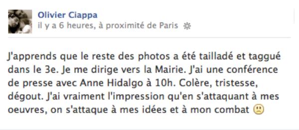 """Olivier Ciappa: Découvrez son interview vidéo après la destruction de son expo """"Les Couples Imaginaires"""""""