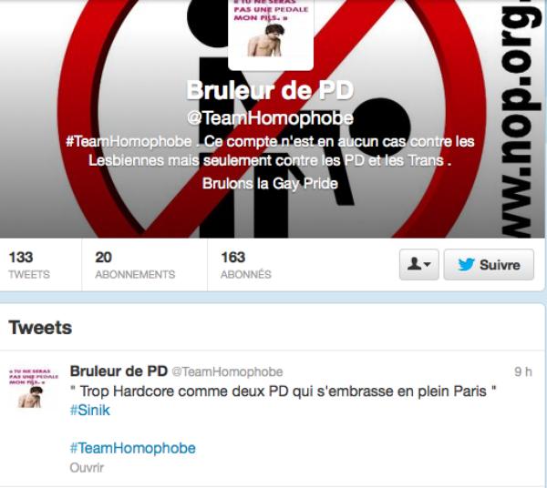 HOMOPHOBIE: Twitter une nouvelle fois infécté pas des centaines de twettes homophobe...