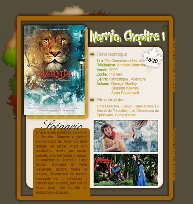 Le monde de Narnia - Chapitre 1: Le lion, la sorcière blanche et l'armoire magique d'Andrew Adamson avec William Moseley, Anna Popplewell, Skandar Keynes, Georgie Henley, Liam Neeson, Tilda Swinton et James McAvoy