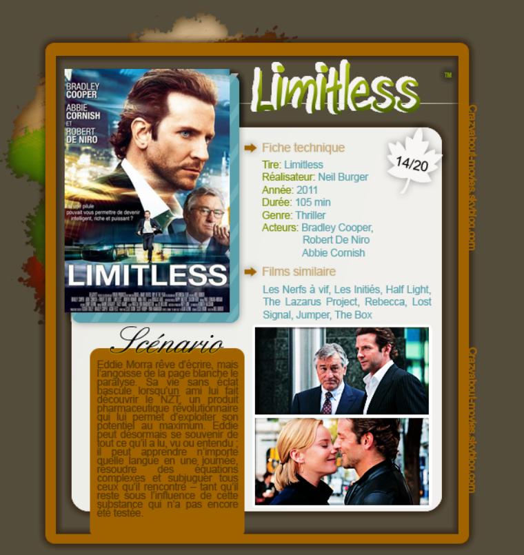 Limitless de Neil Burger avec Bradley Cooper, Robert De Niro et Abbie Cornish