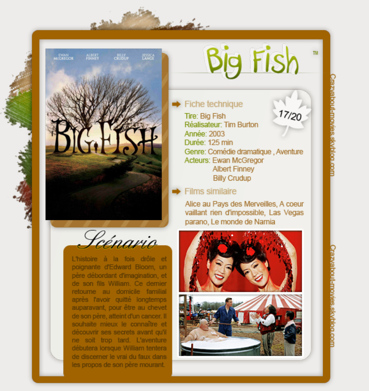 Big Fish de Tim Burton avec Ewan McGregor, Albert Finney et Billy Crudup
