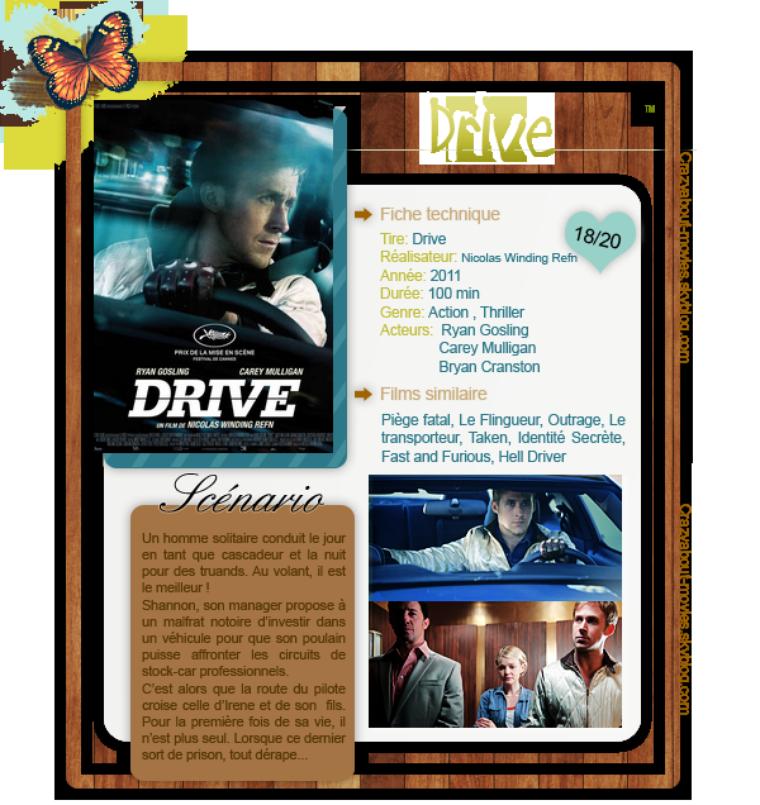 Drive de Nicolas Winding Refn avec Ryan Gosling, Carey Mulligan et Bryan Cranston