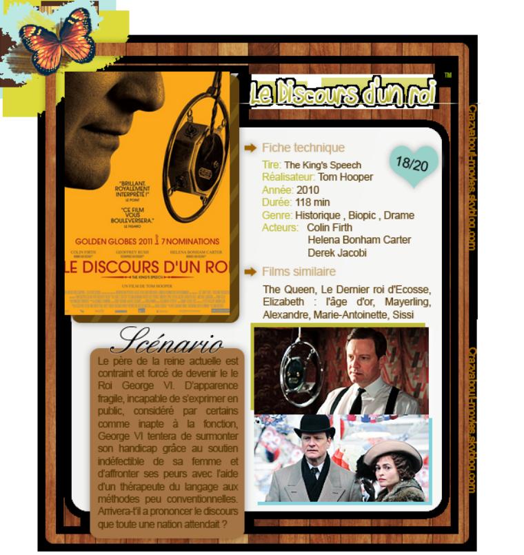 Le Discours d'un roi de Tom Hooper avec Colin Firth, Helena Bonham Carter et Derek Jacobi
