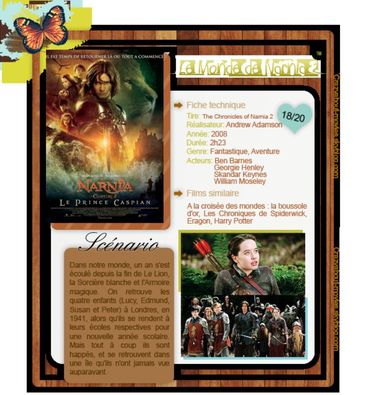 Le Monde de Narnia : Le Prince Caspian de Andrew Adamson Ben Barnes, Georgie Henley et William Moseley