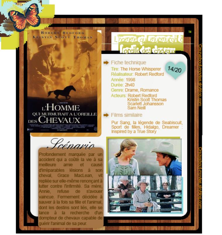 L'homme qui murmurait à l'oreille des chevaux de Robert Redford avec Robert Redford, Kristin Scott Thomas, Scarlett Johansson et Sam Neill