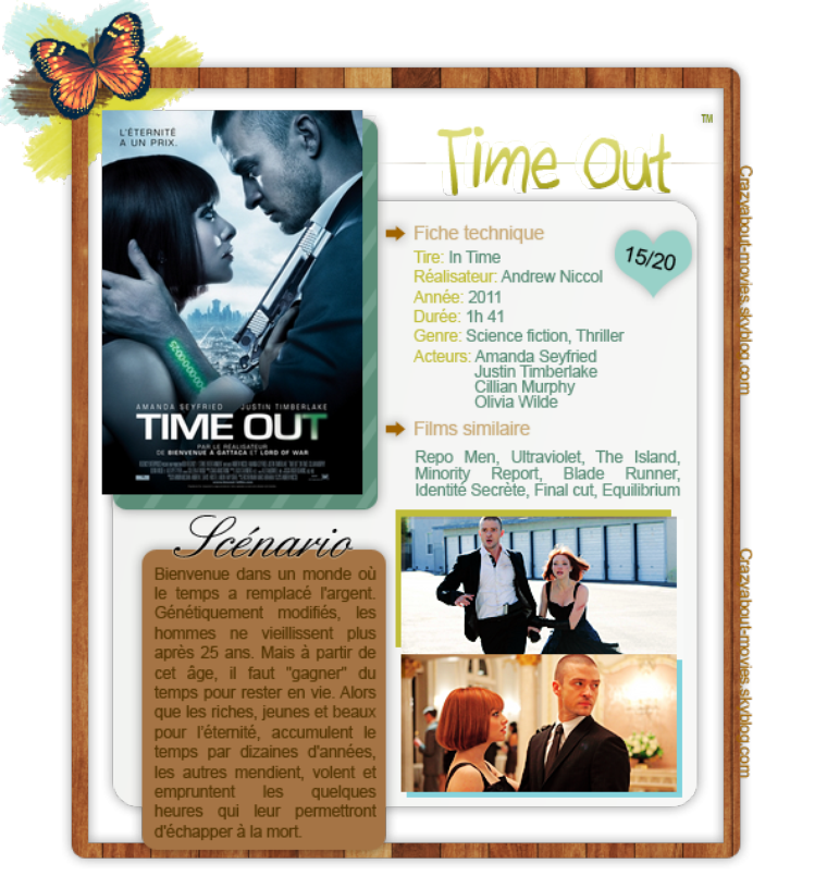 Time Out de Andrew Niccol avec Amanda Seyfried, Justin Timberlake, Cillian Murphy et Olivia Wilde