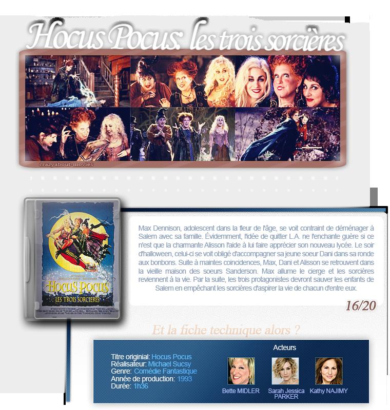 Hocus Pocus de Kenny Ortega avec Bette Midler, Sarah Jessica Parker et Kathy Najimy