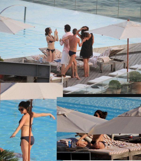 26/02 Lucy arrivant a son hotel de Sao Paulo , Bresil avec Shay M.