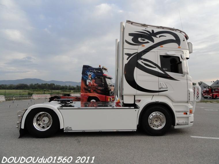 Scania R500 V8 Transports Briards et Fils - Handicaminotrucks Montélimar 2011