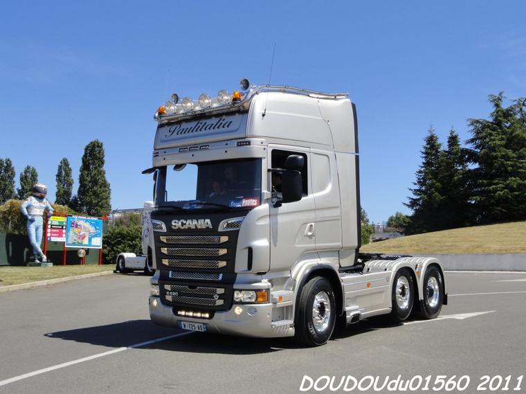 Scania R620 V8 et Scania T164G 580 V8 Paulitalia - Magny Cours 2011