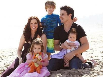 The husband and wife couple, Nathan West and Chyler Leigh along with their three children