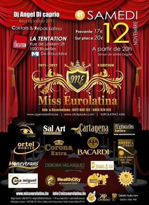 Miss EUROLATINA 2012 - MAI notre ambassadrice est candidate !!!