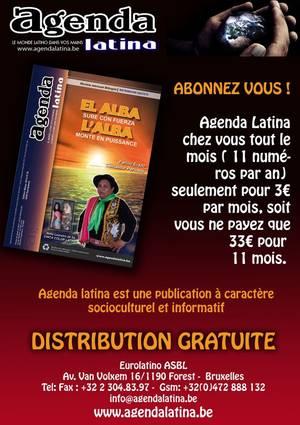 """Avec L'AGENDA LATINA, vous avez """"LE MONDE LATINO"""" entre vos mains !!!"""