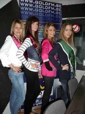 Les candidates au titre de MISS WOLUWE 2012, dans Les Etoiles de BES - 28.03.2012
