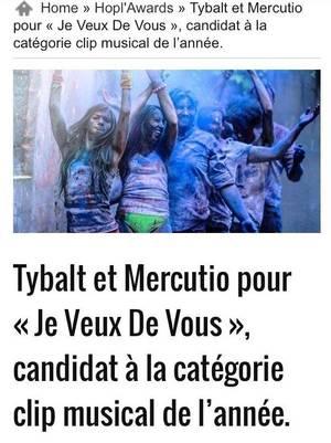 """Tybalt et Mercutio reçoivent à Strasbourg : """"Les 2 Etoiles d'encouragement"""" de BES"""