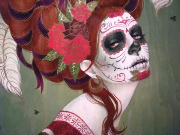 Le Sugar Skull est aussi très apprécié en tant qu'art du maquillage.