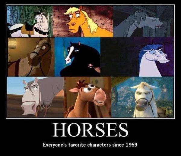 évolution des dessins de chevaux de notre enfance ^^