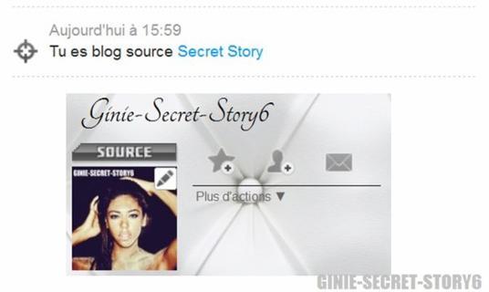 Je suis Blog Source Secret Story!!