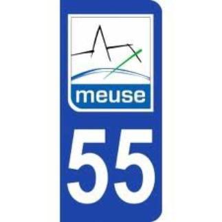 ECUSSONS ET INSIGNES DEPARTEMENT MEUSE 55