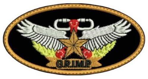 ECUSSONS ET INSIGNES G.R.I.M.P.(GROUPE de RECONNAISSANCE et INTERVENTION EN MILIEUX PERILLEUX ))
