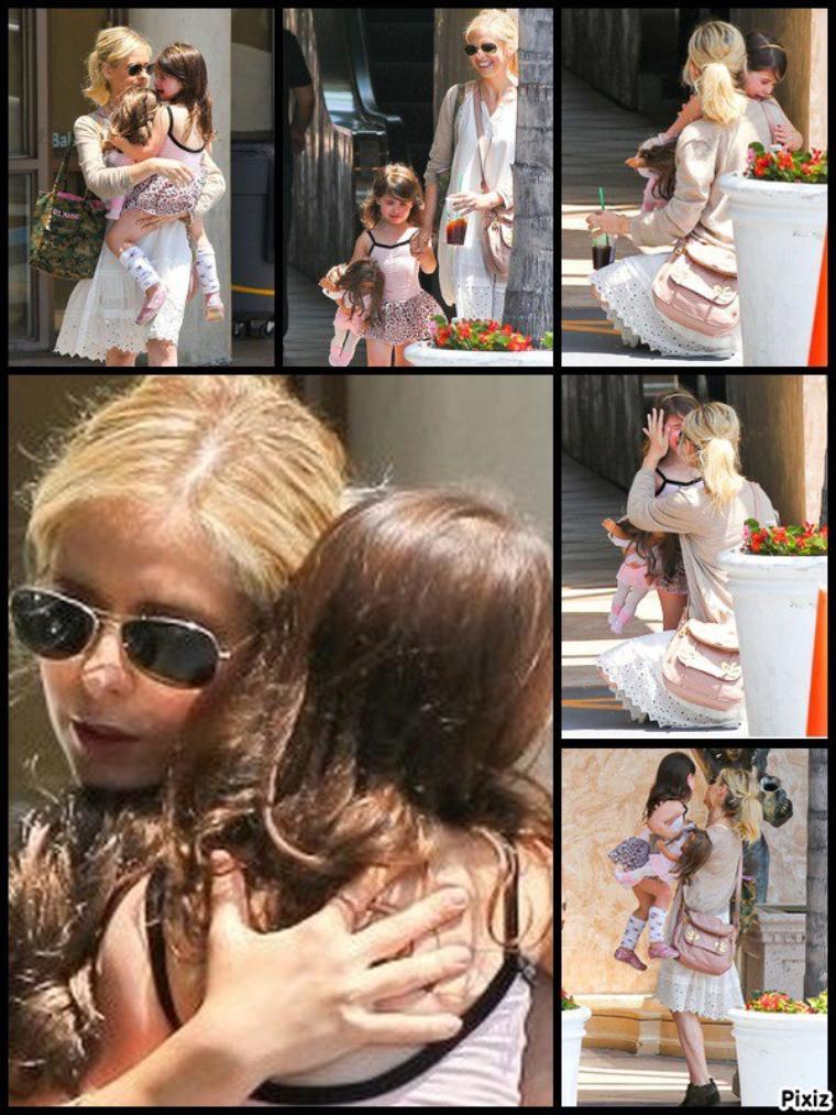 Sarah récupère sa fille à son cours de danse hier !