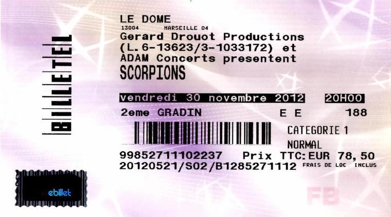 Marseille - Le Dôme - 30 Novembre 2012 - Dernière Piqûre de Rappel