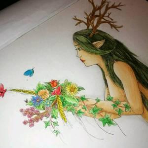 {T-A} Elfe au bouquet.
