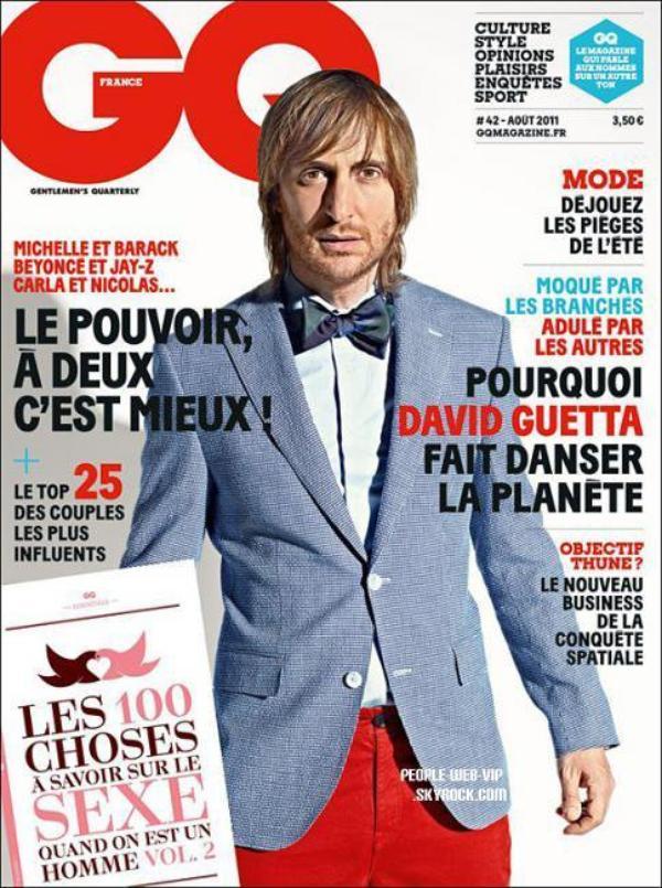 """DAVID GUETTA EN COUVERTURE POUR """"GQ"""""""