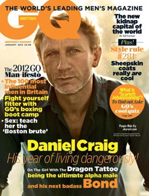 """DANIEL GRAIG  En couverture du magazine """" GQ"""""""