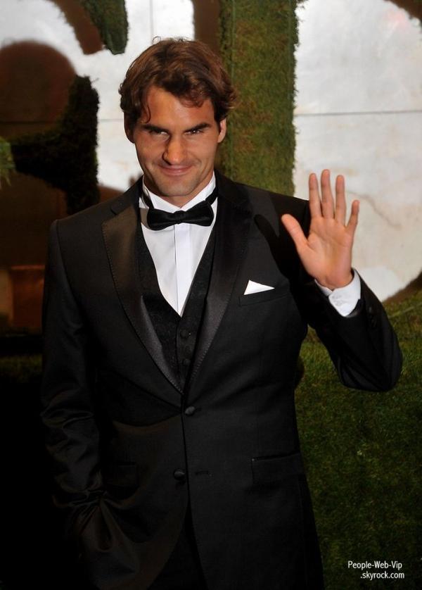 Serena Williams et Roger Federer ont assister à la 2012 Wimbledon Championships Winners Ball  (à l'Hôtel InterContinental Park Lane le dimanche (8 Juillet) à Londres, en Angleterre.)