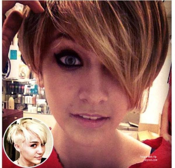 """Paris Jackson, la fille de Micheal Jackson, opte pour la coiffure """"Miley !"""" Qu'en pensez vous ?"""