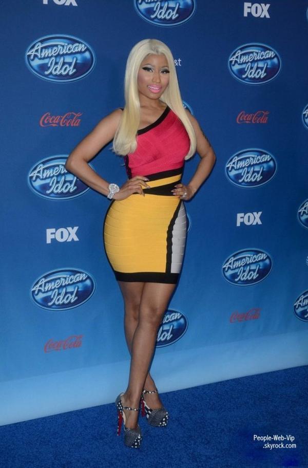 Mariah Carey et Nicki Minaj ont assister à la projection en première de la douzième saison d'American Idol (mercredi (Janvier 9) à l'UCLA Royce Hall à West Los Angeles.)