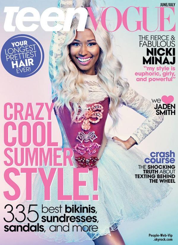 """Nicki Minaj En couverture du magazine """" Teen Vogue """" Qu'en pensez vous ?"""