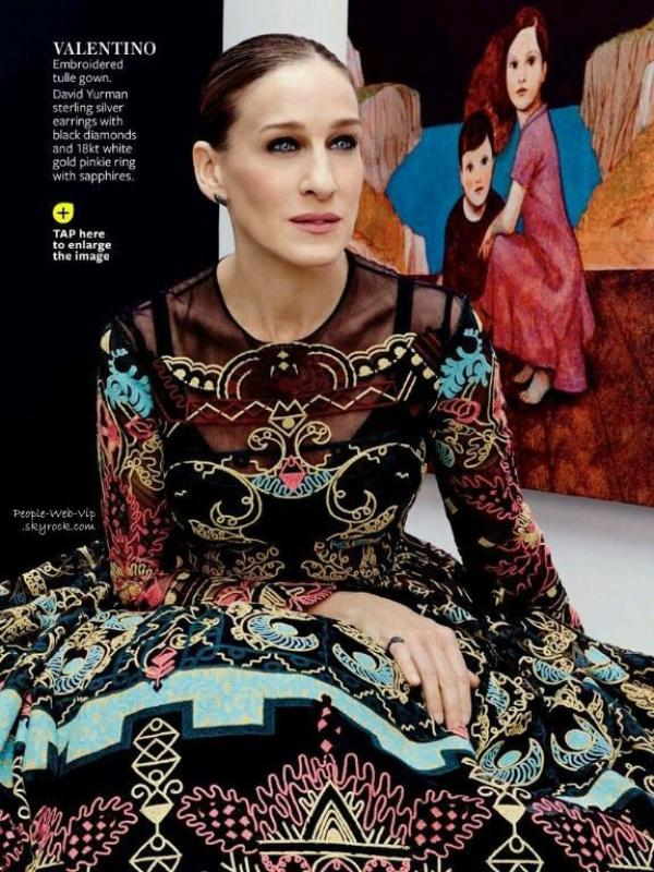 """Sarah Jessica Parker pose pour le magazine """" InStyle"""" Qu'en pensez vous ?"""