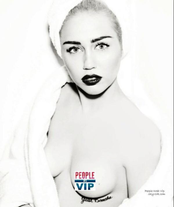 """MILEY CYRUS (en mode Marilyn Monroe) En couverture du magazine """" Vogue Allemagne""""  Qu'en pensez vous ?"""