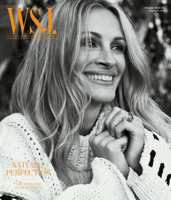 """C'est toujours avec le sourire, que Julia Roberts pose pour le magazine """"  WSJ """" Qu'en pensez vous?"""